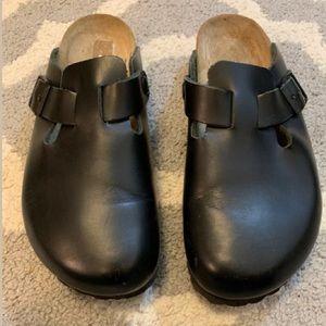 Birkenstock slides clogs mules leather 37 US 6
